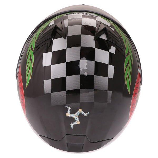 Nitro N2300 Isle of Man Full Face Motorcycle Helmet Top