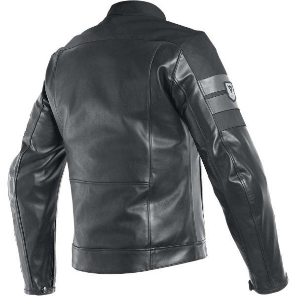Dainese 8-Track Black Leather Motorcycle Jacket Back