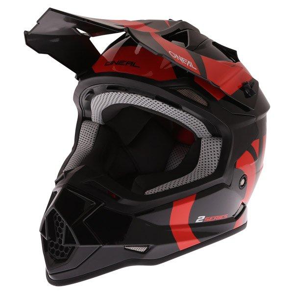 2 Series RL Slick Helmet Black Orange Discount Motorcycle Gear