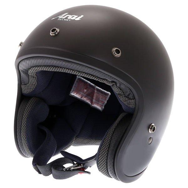 Arai Freeway Classic Frost Black Open Face Motorcycle Helmet Front Left