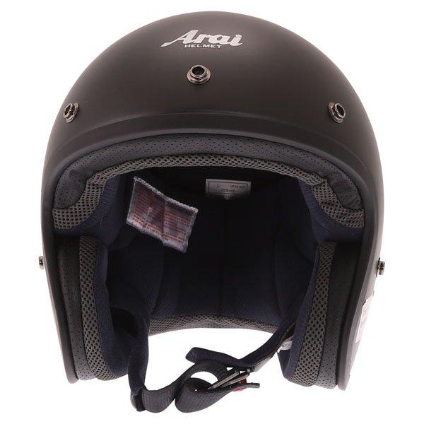 Arai Freeway Classic Frost Black Open Face Motorcycle Helmet Front