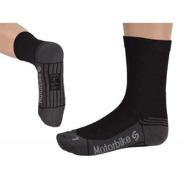 Motorbike Silver Sock Black Grey Socks
