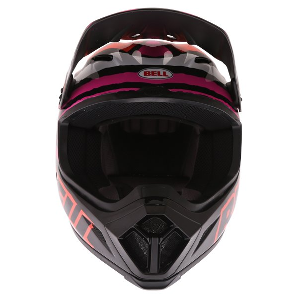 Bell MX-9 Tagger Scrub Pink Motocross Helmet Front