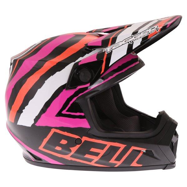 Bell MX-9 Tagger Scrub Pink Motocross Helmet Right Side