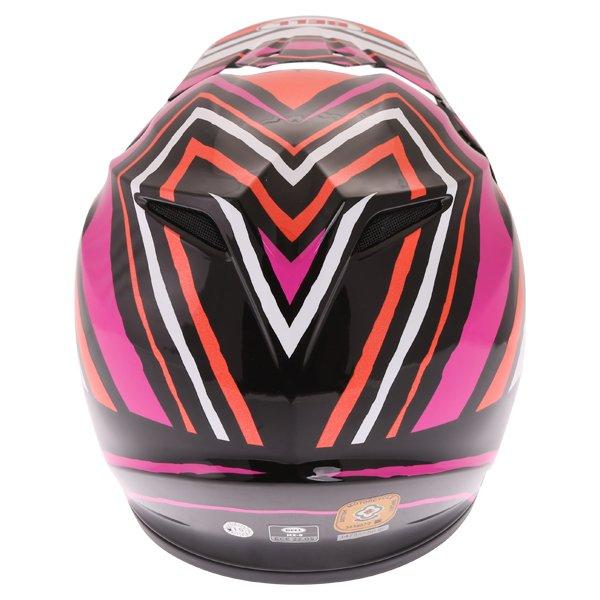 Bell MX-9 Tagger Scrub Pink Motocross Helmet Back