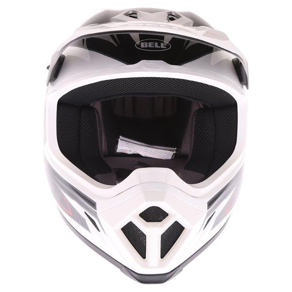 Bell MX-9 Blockade Black White Motocross Helmet Front