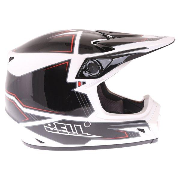 Bell MX-9 Blockade Black White Motocross Helmet Right Side
