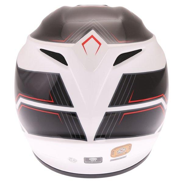 Bell MX-9 Blockade Black White Motocross Helmet Back