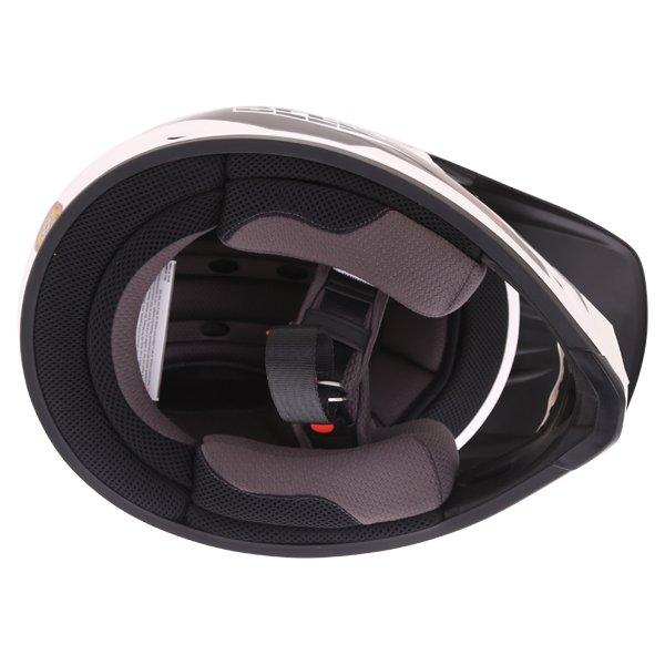 Bell MX-9 Blockade Black White Motocross Helmet Inside