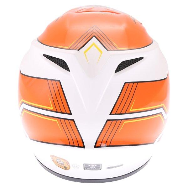 Bell MX-9 Blockade Orange White Motocross Helmet Back