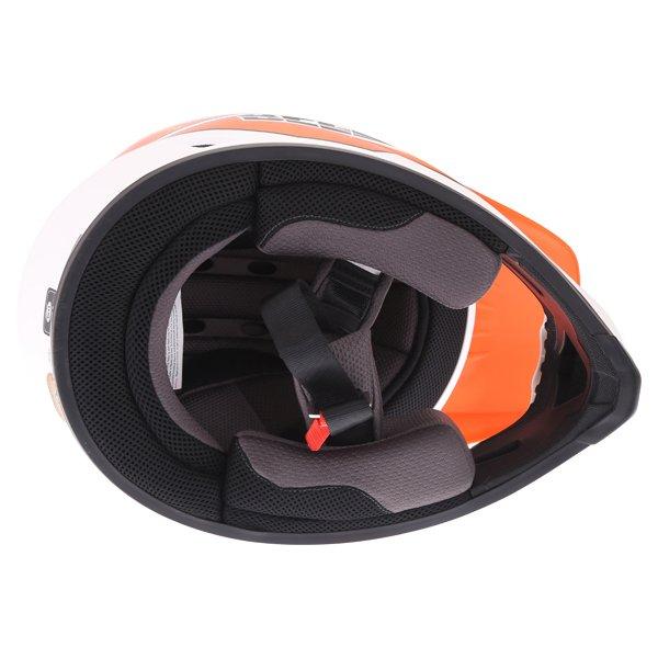 Bell MX-9 Blockade Orange White Motocross Helmet Inside