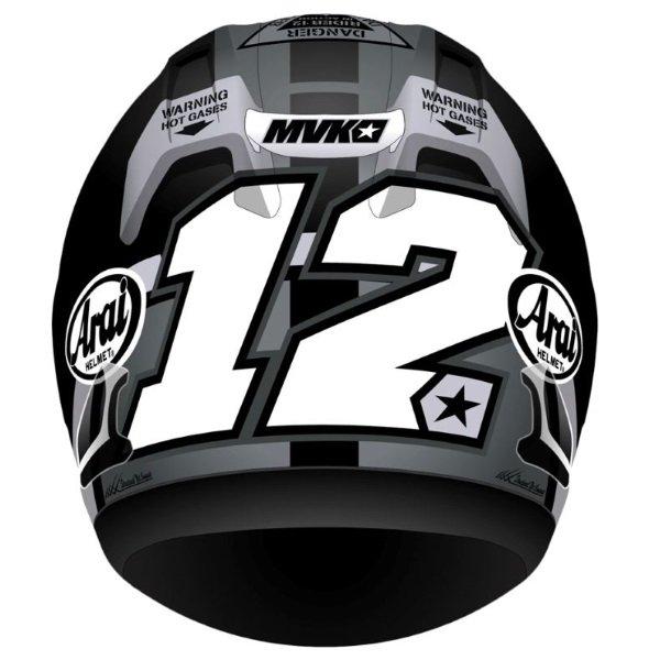 Arai RX-7V Vinales 12 Full Face Motorcycle Helmet Back