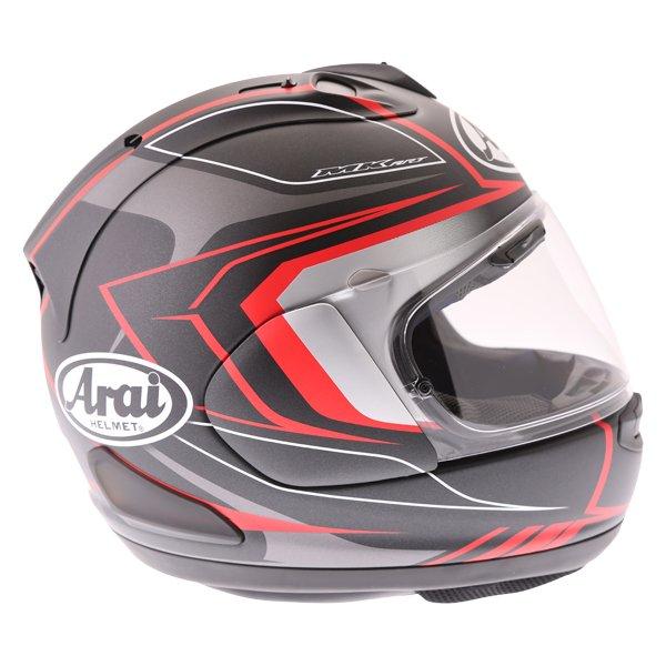Arai RX-7V Maze Matt Black Red Full Face Motorcycle Helmet Right Side