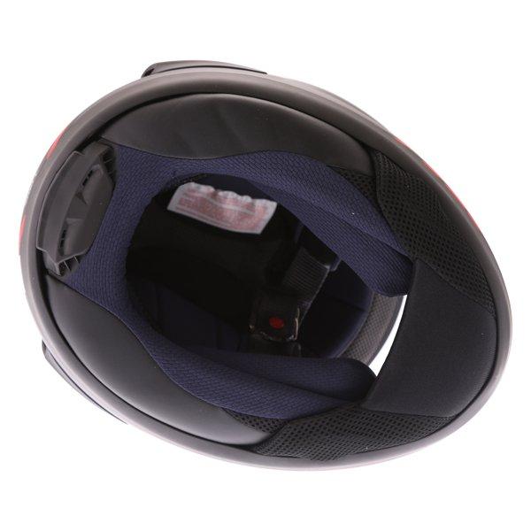 Arai RX-7V Maze Matt Black Red Full Face Motorcycle Helmet Inside