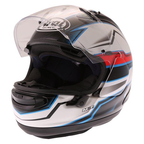 Arai RX-7V Scope White Black Red Full Face Motorcycle Helmet Open Visor