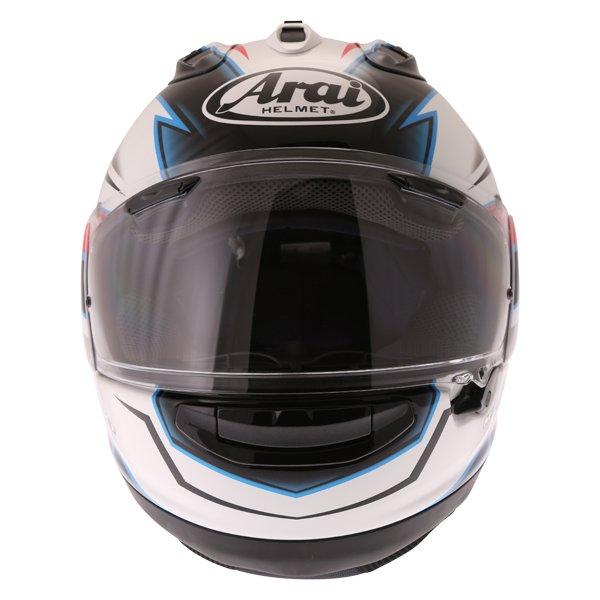 Arai RX-7V Scope White Black Red Full Face Motorcycle Helmet Front