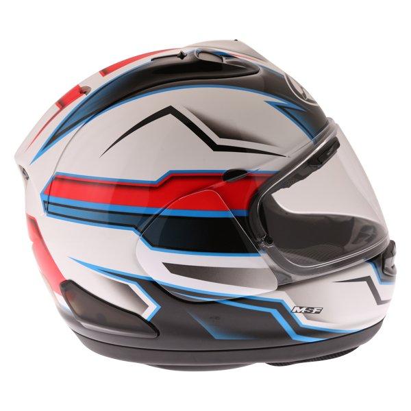 Arai RX-7V Scope White Black Red Full Face Motorcycle Helmet Right Side