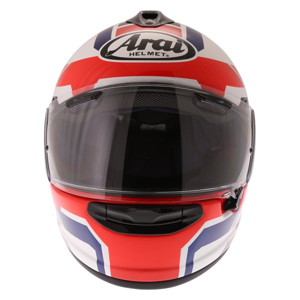 Arai Chaser X Cliff Red White Blue Full Face Motorcycle Helmet Front