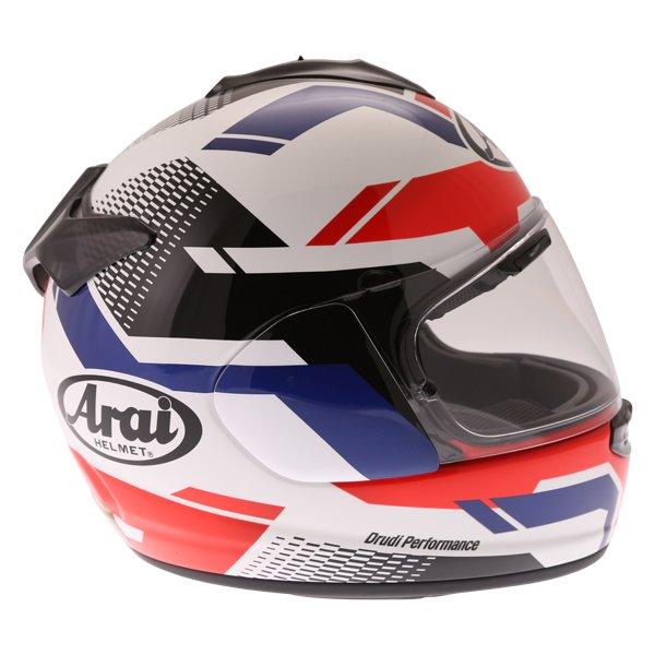 Arai Chaser X Cliff Red White Blue Full Face Motorcycle Helmet Right Side