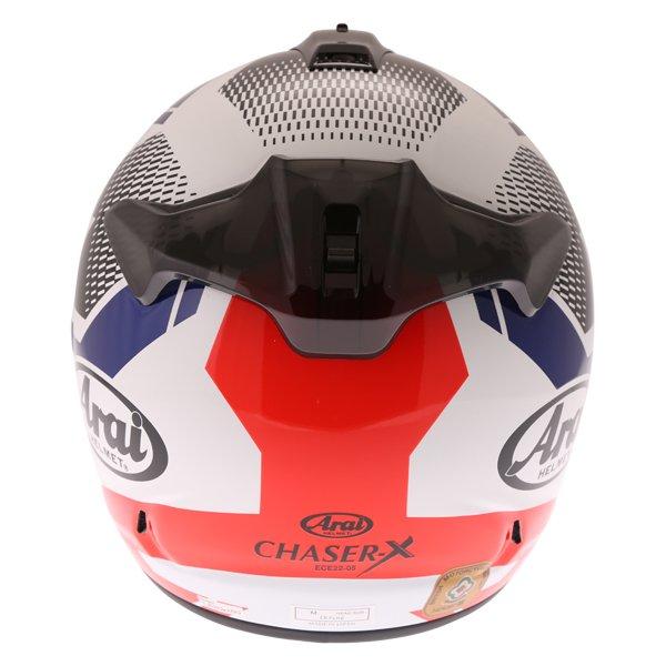 Arai Chaser X Cliff Red White Blue Full Face Motorcycle Helmet Back