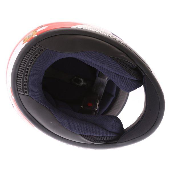 Arai Chaser X Cliff Red White Blue Full Face Motorcycle Helmet Inside