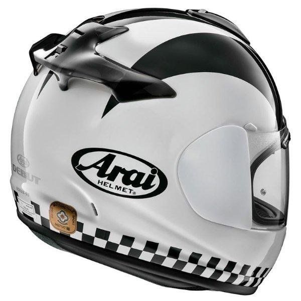 Arai Debut Saltire Full Face Motorcycle Helmet Back Right