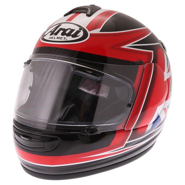 Arai Debut UK Flag Full Face Motorcycle Helmet Front Left
