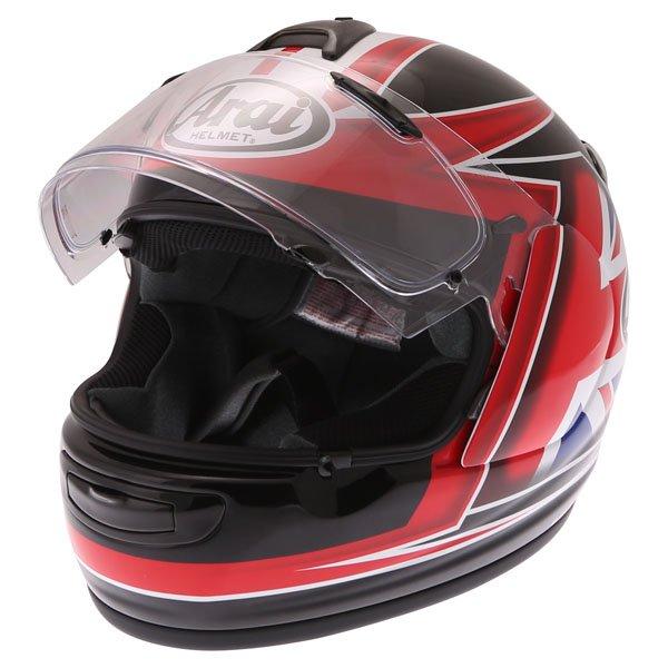 Arai Debut UK Flag Full Face Motorcycle Helmet Open