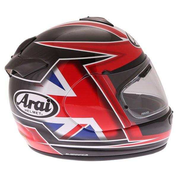 Arai Debut UK Flag Full Face Motorcycle Helmet Right Side