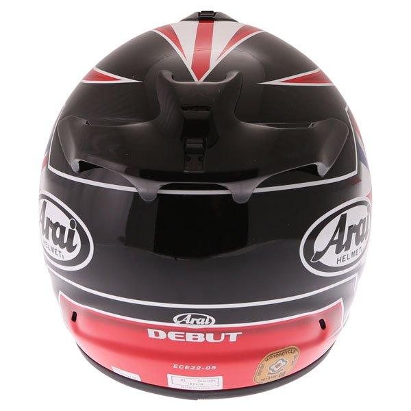 Arai Debut UK Flag Full Face Motorcycle Helmet Back