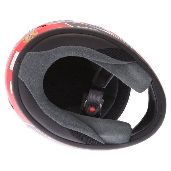 Arai Debut UK Flag Full Face Motorcycle Helmet Inside