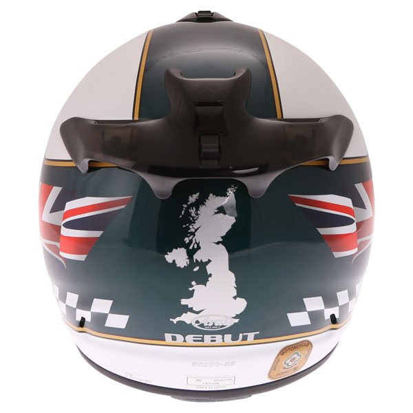 Arai Debut Union Full Face Motorcycle Helmet Back