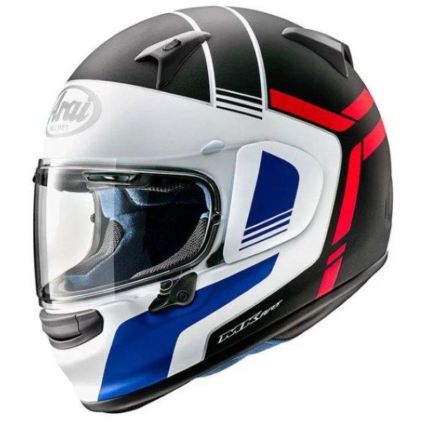 Arai Profile V Tube Red Black White Full Face Motorcycle Helmet Front Left