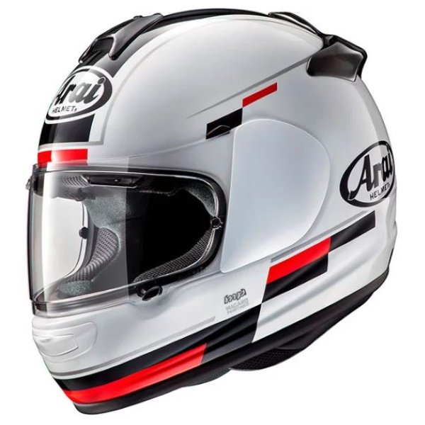 Arai Debut Blaze White Black Full Face Motorcycle Helmet Front Left