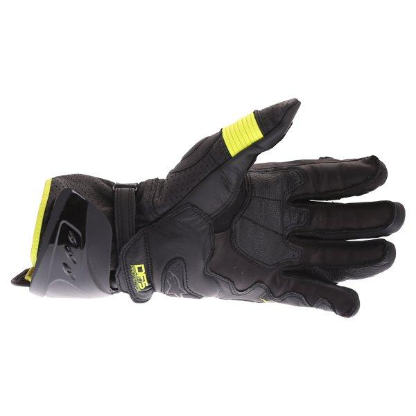 Alpinestars GP Pro R3 Black Yellow Fluo Motorcycle Gloves Palm