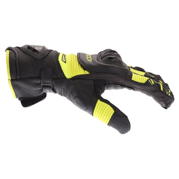 Alpinestars GP Pro R3 Black Yellow Fluo Motorcycle Gloves Thumb side