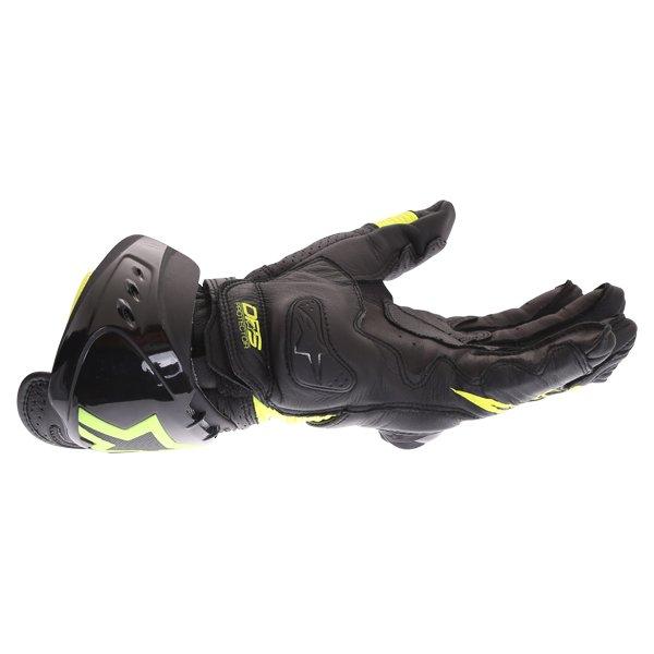 Alpinestars GP Pro R3 Black Yellow Fluo Motorcycle Gloves Little finger side