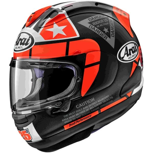 Arai RX-7V Vinales 25 Full Face Motorcycle Helmet Left Side