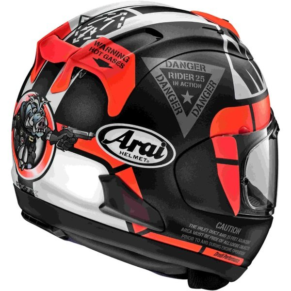 Arai RX-7V Vinales 25 Full Face Motorcycle Helmet Back Right