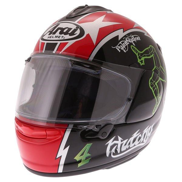 Arai Chaser X Hutchy TT Full Face Motorcycle Helmet Front Left