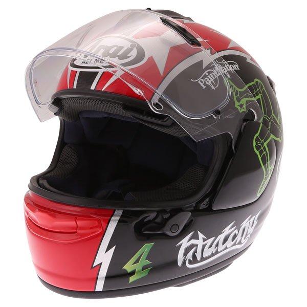 Arai Chaser X Hutchy TT Full Face Motorcycle Helmet Open