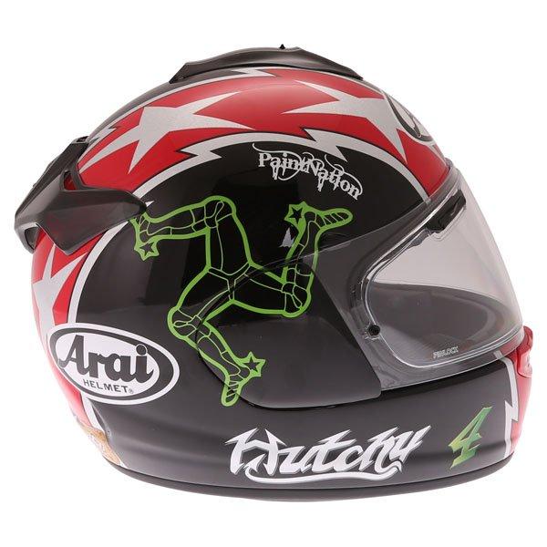 Arai Chaser X Hutchy TT Full Face Motorcycle Helmet Right Side