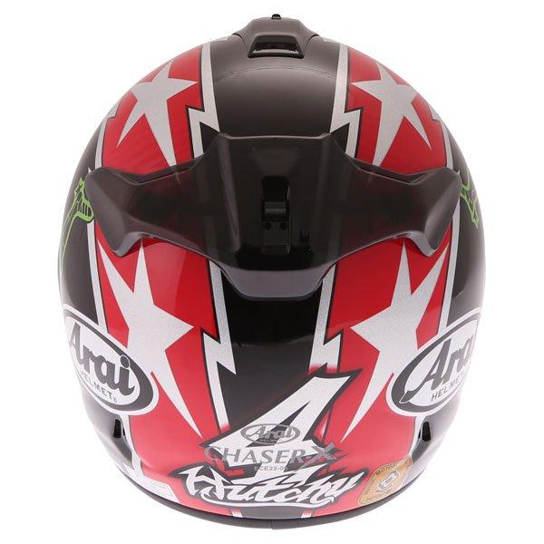 Arai Chaser X Hutchy TT Full Face Motorcycle Helmet Back