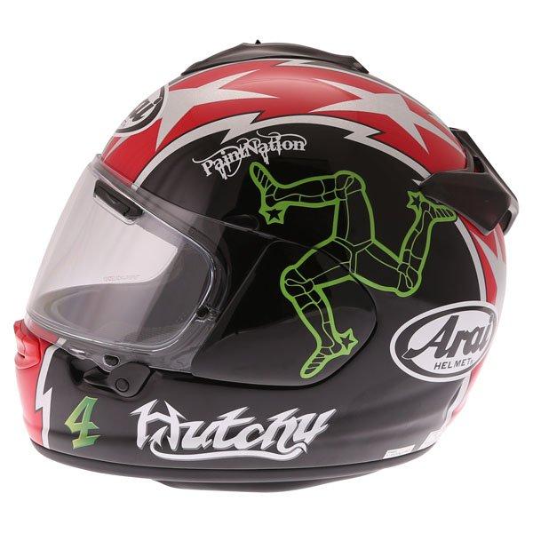 Arai Chaser X Hutchy TT Full Face Motorcycle Helmet Left Side