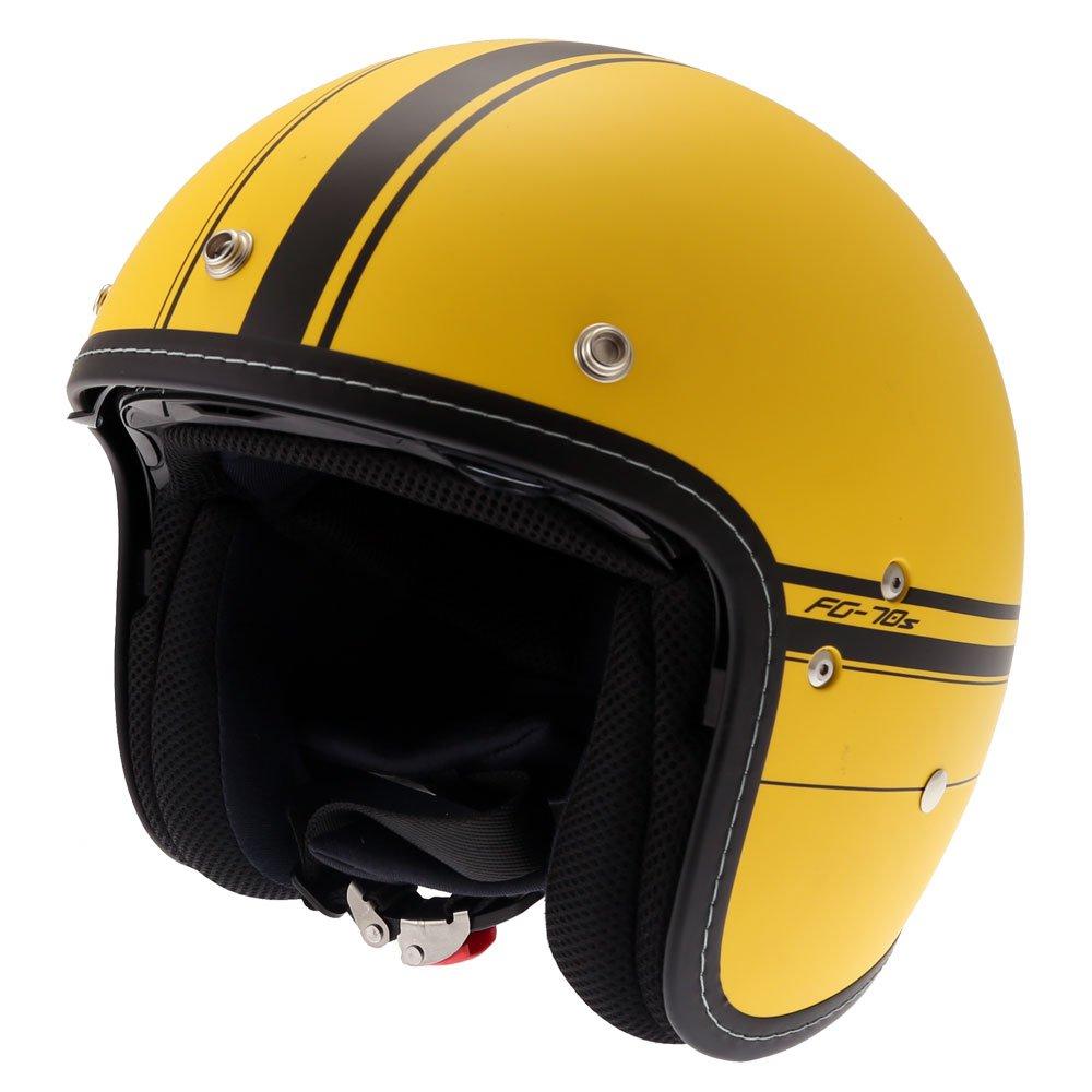 FG-70S Ladon Helmet Yellow Open Face Motorcycle Helmets