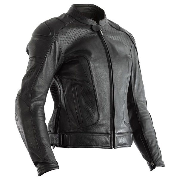 GT CE Ladies Leather Jacket Black Ladies