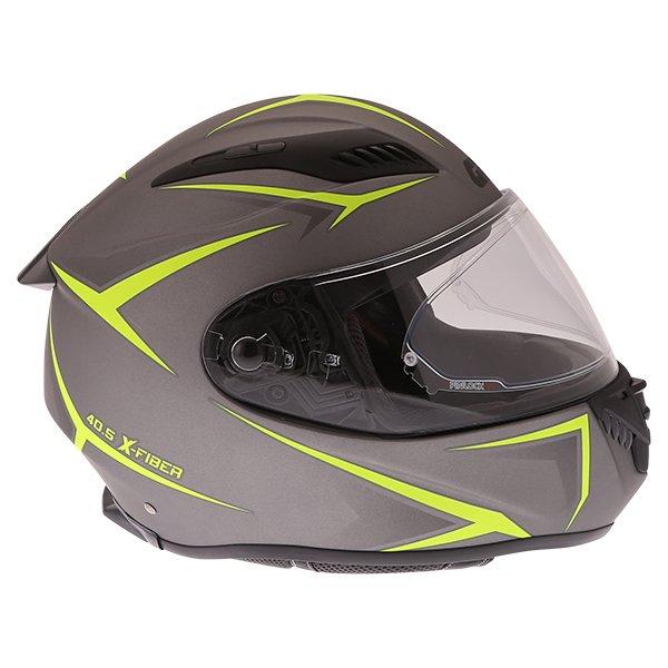 Givi 40.5 X-Fiber Silver Yellow Full Face Motorcycle Helmet Right Side