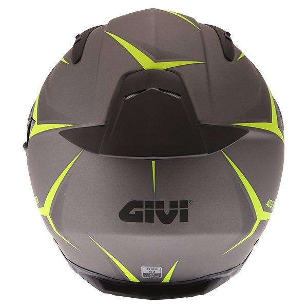 Givi 40.5 X-Fiber Silver Yellow Full Face Motorcycle Helmet Back