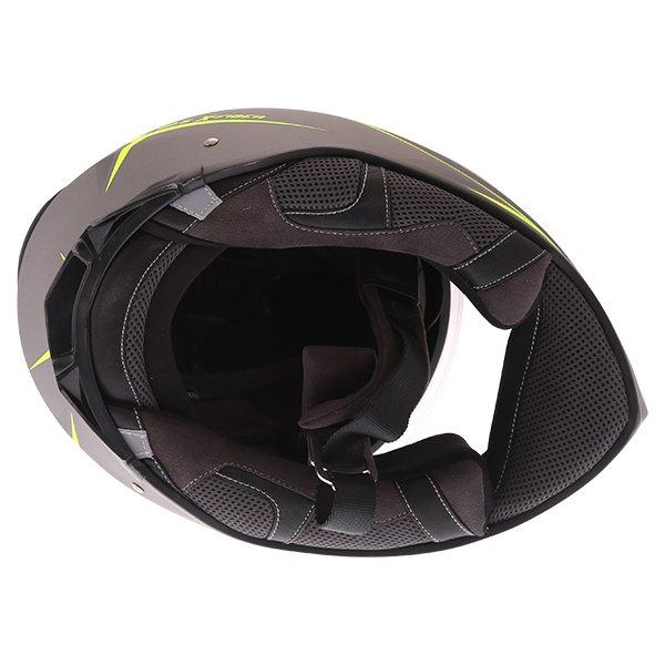 Givi 40.5 X-Fiber Silver Yellow Full Face Motorcycle Helmet Inside