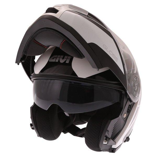 X21 Challenger Globe Helmet White Black Givi Helmets